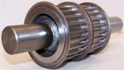 Shaft welded cog pulley