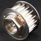 Cog pulley with built-in external hex head nut
